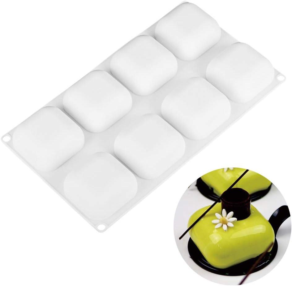 Beicemania Moule /à g/âteau carr/é en silicone Blanc 20,3 cm