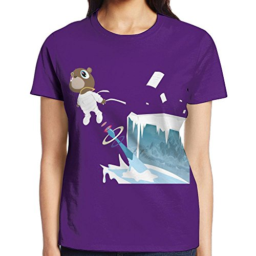 IEIDJFF Basketball Kanye West Bear T-Shirt Short Sports Custom Womens Round Collar XX-Large Print Both Front and - Blazer White West Kanye
