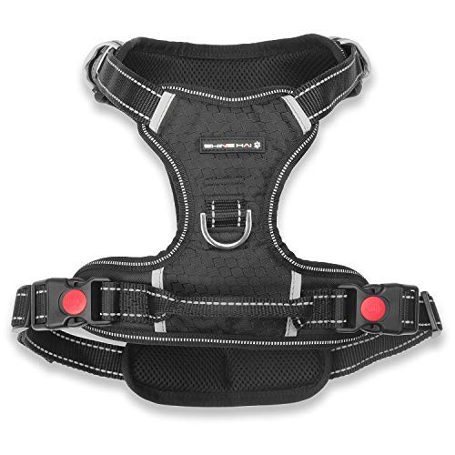Lock Belt 69 - Premium No Pull Dog Harness, Adjustable Pet Soft Vest Harness with Reflective Oxford Material, Perfect for Large Medium Dogs Walking Training Outdoor, Easy Control