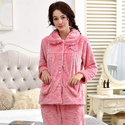 De Mujeres Polar Sets Suave A Sleep Sport Franela Domicilio Invierno Otoño Pants Xl Baijuxing Casual Coral Pijamas Servicio 2 Gruesa Cálido E x7nRwvqIz
