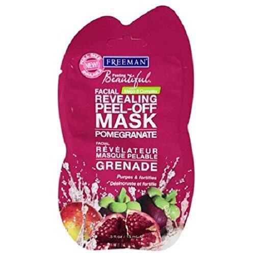 Freeman Travel Size Pomegranate Revealing Peel-Off Mask, 0.5 fl oz (Pack of 2)