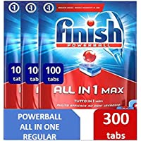 Finish Dishwasher Detergent Tablets, All in One Regular, 300 Tablets (pack of 3)