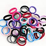 Hair Hairstyle - 1500pcs Candy Fluorescence Colored Hair Holders Rubber Bands Elastics Girl Women Tie Gum - Keychain Garbage Kids Training Pack Boys Ties Journal Stretch PinkHai