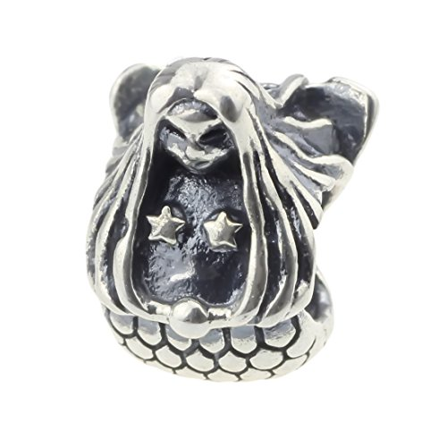 Beads Hunter 925 Sterling Silver Charm Bead the Mermaid Daughter of Sea Fit Pandora Biagi Troll Chamilia Cable Bracelet Snake Chain