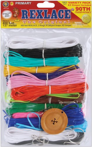 Plastic Thread - Pepperell RX-153 Rexlace Plastic Lacing Cord, 450-Feet, Primary
