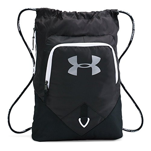Under Armour Undeniable Sackpack, Black (001)/Silver, One Size Fits All (Under Armour Basketball Bag)