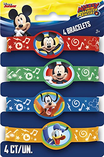 Mickey Mouse 'Mickey and the Roadster Racers' Rubber Bracelets / Favors (Racer Rubber)