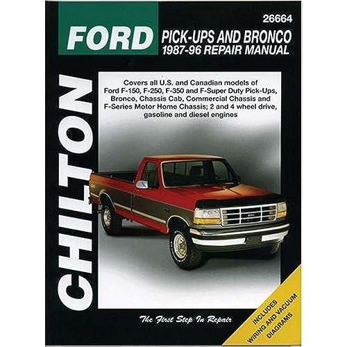 Auto repair manuals amazon chiltons ford pick ups and bronco 1987 96 repair manual chiltons total car care repair manual solutioingenieria Gallery