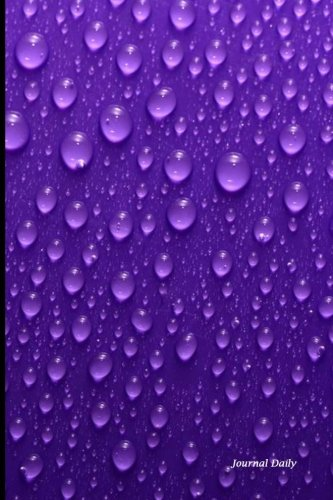 Journal Daily: Purple Rain 2, Lined Blank Journal Book, 6 x 9, 200 Pages