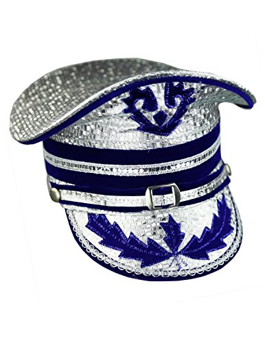 Sunshine Joy Adult Madcap Indian Marching Band Hat Silver Small