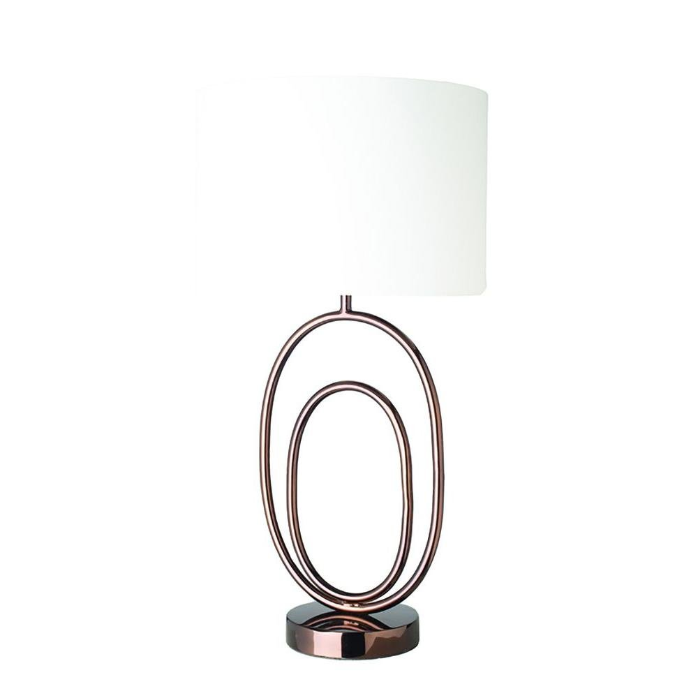 Renwil Inc LPT552 Arabica - One Light Medium Table Lamp, Shiny Espresso Finish with Off White Shade