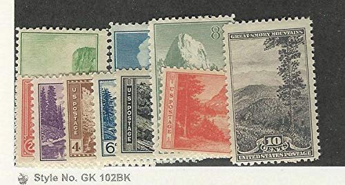 United States, Postage Stamp, 740-749 Mint Hinged, 1934 Parks, JFZ