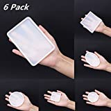 Ddfly 6pcs Silicone Resin Casting Molds DIY Jewelry Necklace Pendant Making Moulds,Include Round, Square, Rectangle, Ellipse Rectangle Shaped Jewelry Casting Molds