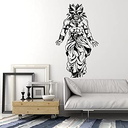 amazon com dragon ball z broly legendary saiyan anime manga decoramazon com dragon ball z broly legendary saiyan anime manga decor wall mural vinyl decal sticker (m391 21 in by 35 in) home \u0026 kitchen