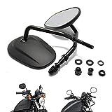 Black Matte Motorcycle Side Mirrors for Cruiser Touring Harley Davidson XL 883 1200