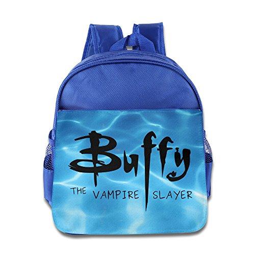 [Buffy Vampire Slayer Logo Kids School RoyalBlue Backpack Bag] (Buffy The Vampire Slayer Movie Costume)