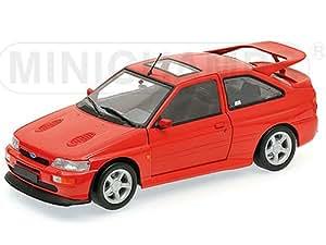 Ford Escort RS Cosworth, rojo , 1992, Modelo de Auto, modello completo, Minichamps 1:18