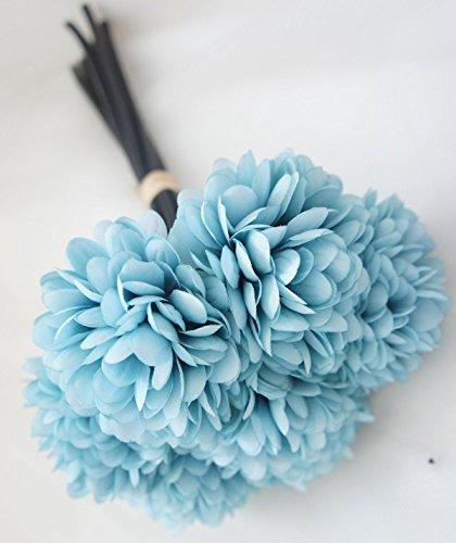 Lily Garden Silk Chrysanthemum Ball 7 Stems Flower Bouquet (Pale (Hydrangea Wedding Decorations)