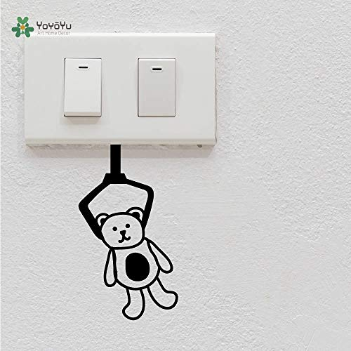 Vinyl Wall Decal Clip Doll Bear Switch Small Objects Kids Room Bedroom Funny Home Decoration Stickers FD471 from MICHAEL T CANNON
