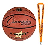 Champion Sports Composite Basketballs Orange Bundle with 1 Performall Lanyard SB1000-1P