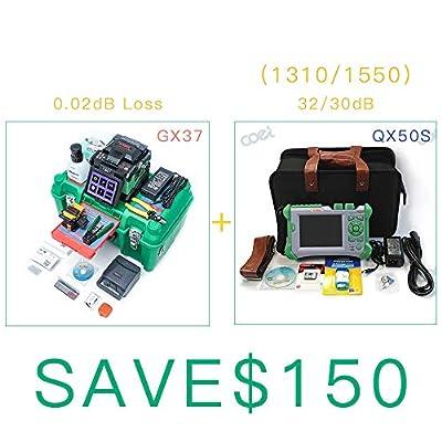 Core Aliginment KomShine GX37 Fiber Welding Machine +QX50-S SM 1310/1550 nm 32/30dB OTDR+Optic Power Meter OPM+SM Light Sourcer+VFL
