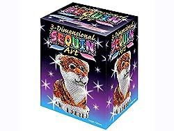 3D Tiger Sparkling Arts & Crafts Picture Kit