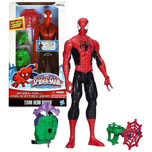 marvel ultimate spider man titan heroes series spider man with goblin attack gear buy online