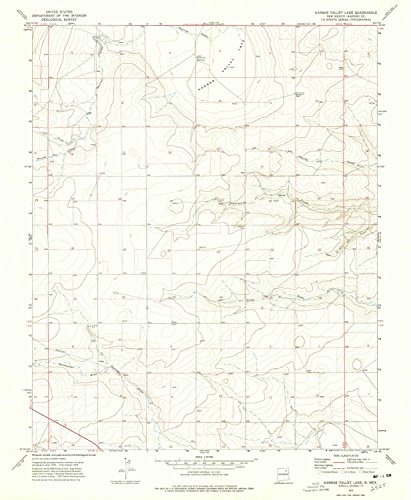 Kansas Valley Lake NM topo map, 1:24000 scale, 7.5 X 7.5 Minute, Historical, 1974, updated 1978, 26.8 x 22 IN - - Kansas Of City Map Legends