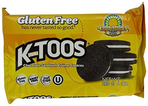 Kinnikinnick Kinnitoos Sandwich Cookies Gluten Free Chocolate Crème, 2Count