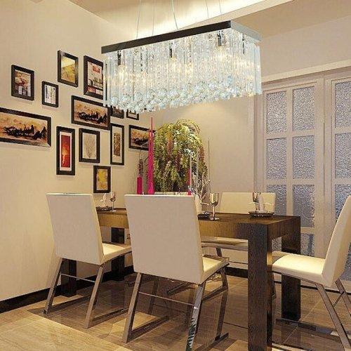 LightInTheBox Modern Big Size Transparent K9 Crystal Chandelier Ceiling Light for Dining Room, Bedroom, Living Room