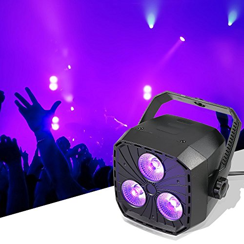 Lixada Portable 38W RGBW Lighting 4 in 1 Zoom Dmx Mini Par Light DJ Par DMX LED Par Light for Disco Wedding Party Stage Show Uplighting Lamp Remote Control