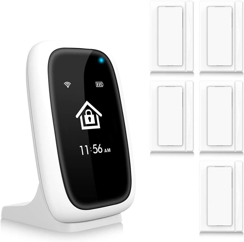 WLAN Wireless Alarm System, Home Office APP Control Security System Burglar Alarm System Set, Anti-Theft Protection with 5PCS Door and Window Contact