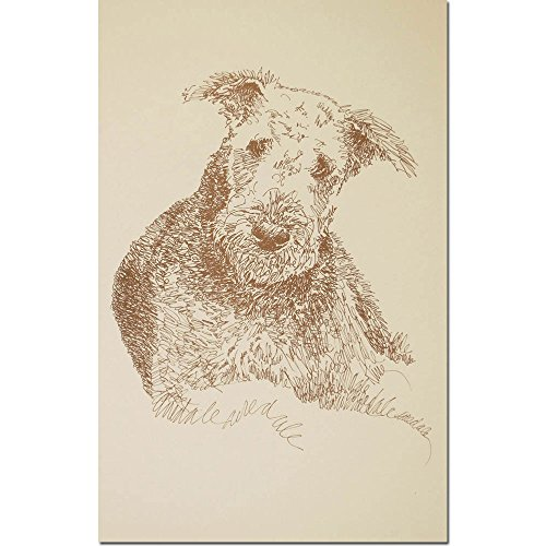 Stephen Kline Airedale Terrier Personalized Lithograph by
