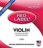 Super-Sensitive 2104 Red Label Orchestra 1/2 Violin Strings, Medium Gauge