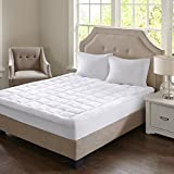Madison Park Cloud Soft Overfilled Plush bed protector waterproof mattress cover king white