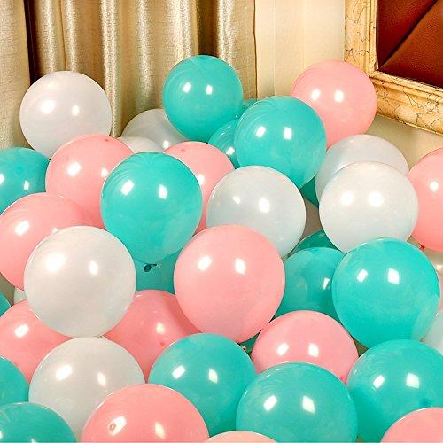 Iygnaw Party Balloons Wedding Decoration Latex Balloons (Tiffany Blue Light Pink - Pink Tiffany