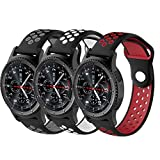 Geekercity 3 Pack 20mm Smart Watch Bands, Soft Silicone Sport Quick Release Strap Wristband for Amazfit Bip/Huawei Watch 2/Ticwatch 2/Fossil Q Gazer/Samsung Gear 2 Classic/Moto 360 (Mixed Color 3)