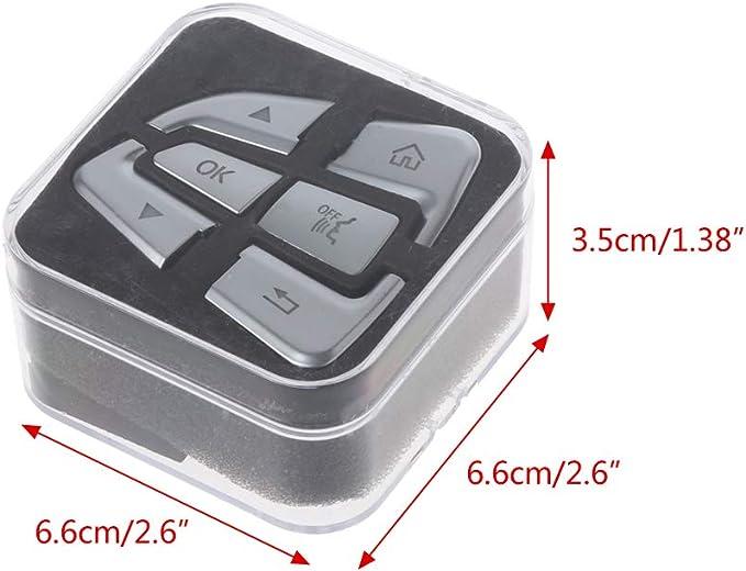 Yanhonin - Lote de 12 botones de volante de dirección ...