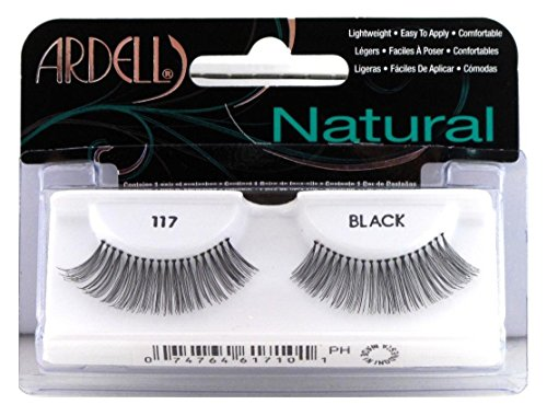 Ardell Fashion (Ardell Fashion Lashes Pair Black - 117 (Pack of 6 Pairs))