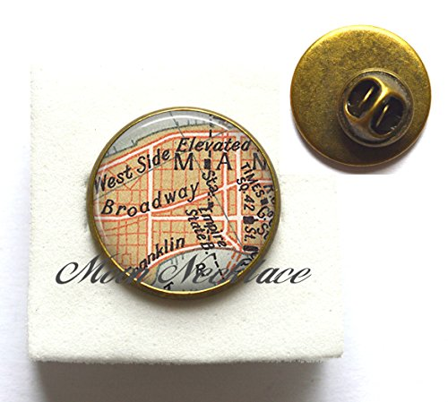 Charm Brooch,Broadway map Brooch, Times Square map Pin, actress gift, Charm Building, theatre Pin, theater - Shops Times Square Map