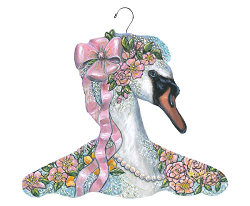 Stupell Home Décor Bridal Swan Hanger, 17 x 0.4 x 11, Proudly Made in USA