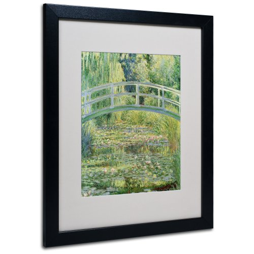 The Waterlily Pond Pink Harmony 1899 Artwork by Claude Monet in Black Frame, 16 by 20-Inch ()