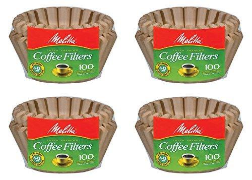 Melitta 8-12 Cup Basket Filter Paper (Natural Brown, 400 Count) (Melitta Natural Brown compare prices)