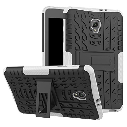 Tab A 8.0 T380 Case DWaybox Hybrid Rugged Heavy Duty Hard Case Cover with Kickstand for Samsung Galaxy Tab A 8.0 2017 SM-T380/T385 / Samsung Tab A2 S 2017 (White)