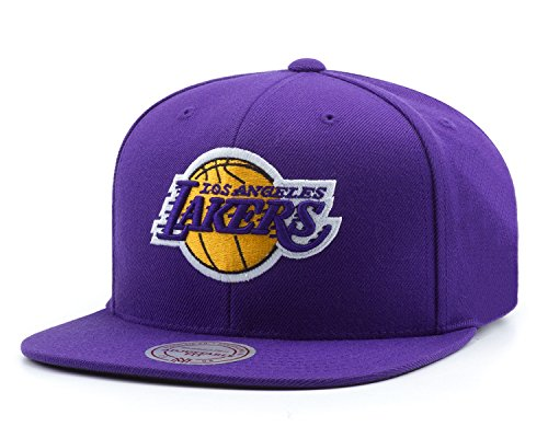 Mitchell & Ness NBA Los Angeles Lakers Wool Solid Snapback Cap NZ979 Basecap