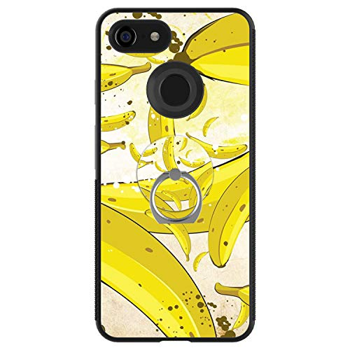 Banana 3 Production Case - Banana Google Pixel 3 XL Case with Ring Holder Stand Cellphone 360 Degree Rotating Ring Holder Kickstand Drop Protective Cover for Google Pixel 3 XL