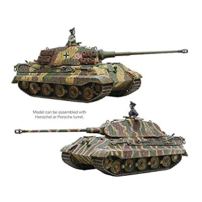 Bolt Action King Tiger Tank 1:56 WWII Military Wargaming Plastic Model Kit: Toys & Games