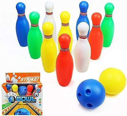 4b61bfed6b682 yoptote Bowling Kegelspiel Set Kegeln Boule-Spiel Interaktive Spielzeug mit  2 Bälle und 10 Kegel Spiel Drinnen Draußen für Kinder Jungen Mädchen ab 3 4  5 6 ...