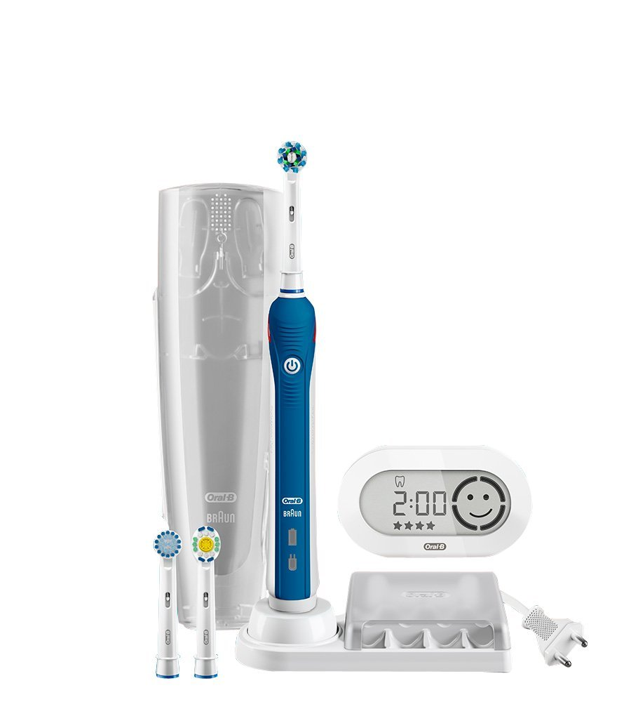 Oral-B Pro 5000 CrossAction Electric Rechargeable Toothbrush with SmartGuide Powered by Braun