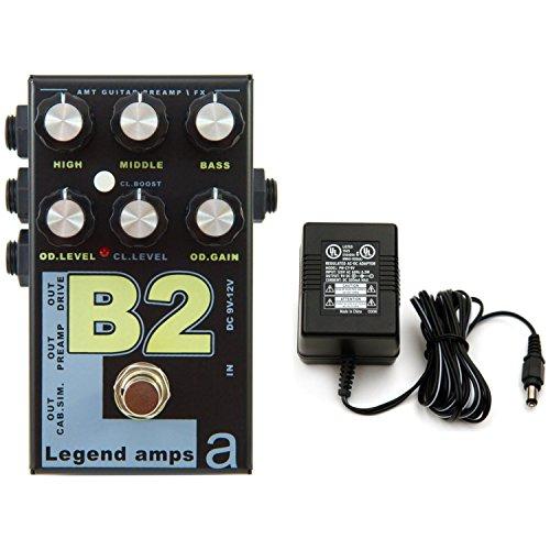 AMT Electronics Legend Amp Series II B2 Bogner Preamp/Distortion Pedal w/ 9V Power (Amt Electronics)